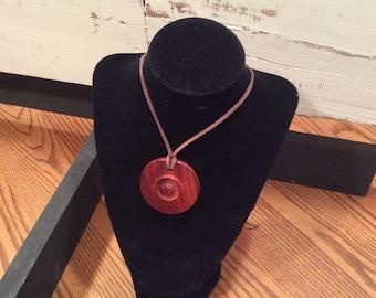 SALE- Wooden pendant necklace