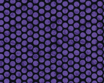 Purple Dots on Black Background-  Maywood Emperor's Garden & Ghouls Night Out Collection- High Quality Quilting Fabric