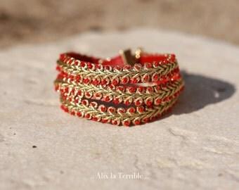 Bracelet doré trois tours, Alix la Terrible.