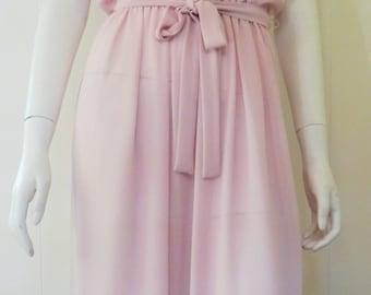 Pink Sheer Vintage Dress