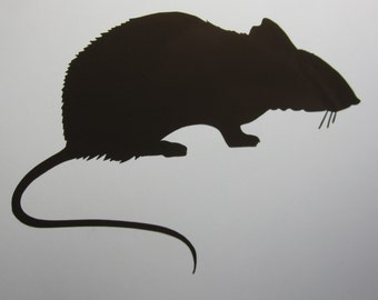 Rat Vinyl Decal / Sticker *Available in 24 Colors* mouse mice rodent