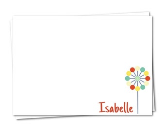 Personalized Stationery, Flower Note Card, Girls Stationary, Personalized Note Card, Stationery Set, Custom Note Card, Floral Note Card