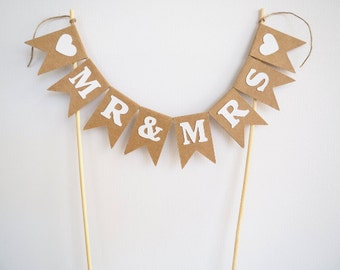 READY TO SHIP! Mr & Mrs cake bunting