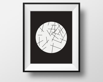 Wall art, abstract wall print, home decor black and white, black white framed prints, framed ikea prints