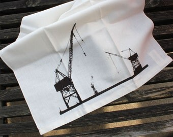 Shipyards Tea Towel