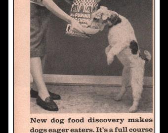 "Vintage Print Ad May 1957 : Purina Dog Chow Wall Art Decor 5.5"" x 10.25"" Advertisement"