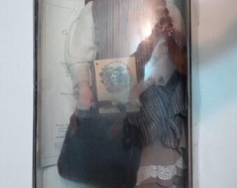 "Rare Vintage 1990's Avonlea Anne Of Green Gables Limited Edition #492/1500 19"" Porcelain Doll MIB COA Retrospective Edition MISSING Hat"