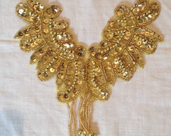 Gold Sequin Applique