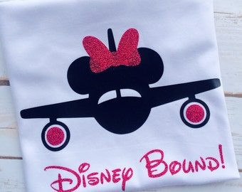 Disney Bound Shirt, Girls Disney Shirt, Disney Airplane