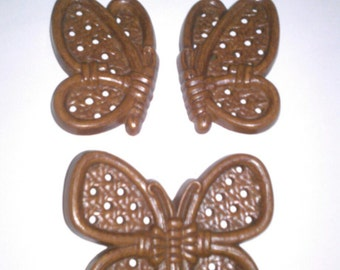 Burwood Set of 3 Butterfly Wall Hangings 1982