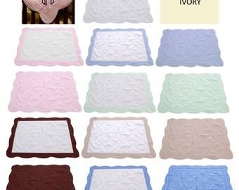Heirloom Personalized Monogrammed Baby Quilt Blanket