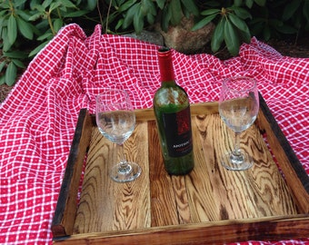 Handcrafted wood tray from reclaimed wood #1