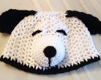Baby/Toddler/Child's Crochet Snoopy Hat - for Boys and Girls