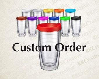 Personalized tumbler, custom tumbler, personalized water bottle, custom gift, personalized gift, tervis style, gift for him, gift for her