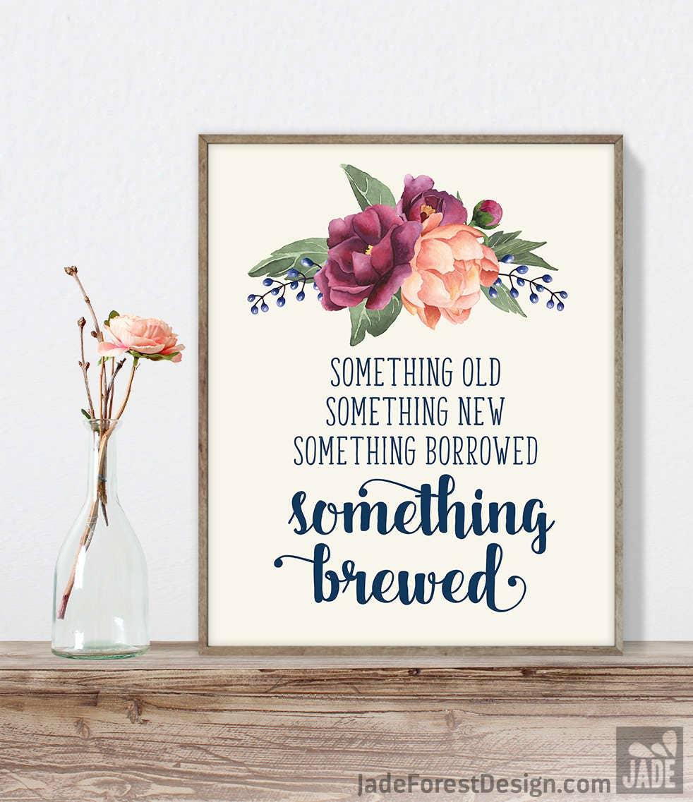 Something Brewed Sign DIY, Funny Beer Sign / Burgundy