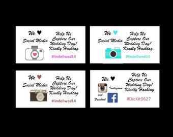Wedding Hashtag Cards! Great for facebook and Instagram!