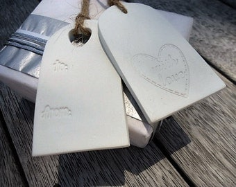 Clay embossed Ornament Gift Tag - Set of 4