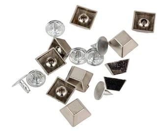 Silver Square Spike / Stud / Rivet