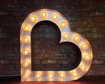 Marquee light up Heart
