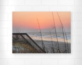 Landscape Photo - Topsail Island - Sunrise Art - North Carolina - Wall Art - Seascape Art - Ocean Art - Ocean Artwork - Nautical Wall Decor