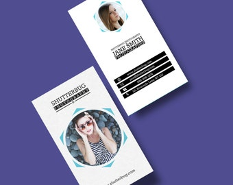 Photographer BUSINESS CARD TEMPLATE - Instant Download - Photoshop Files