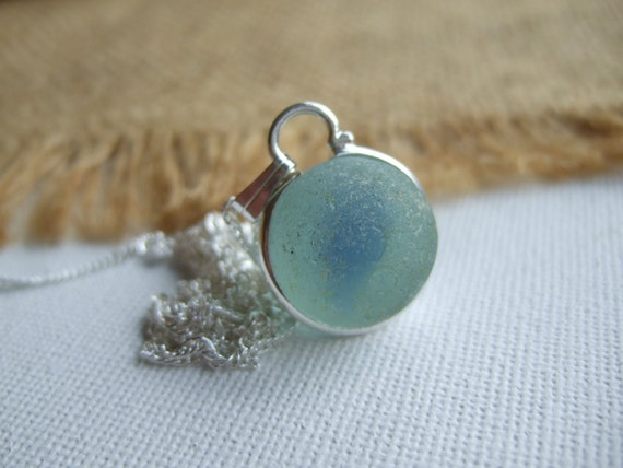 Baby Blue Marble : Baby blue marble necklace cat s eye
