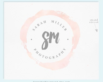 Premade Logo / Watercolor Logo / Photography Logo / Wedding Logo Monogram / Business Logo / Wedding Photography Logo / Watercolour Logo /
