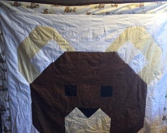 Pieced Bear Quilt