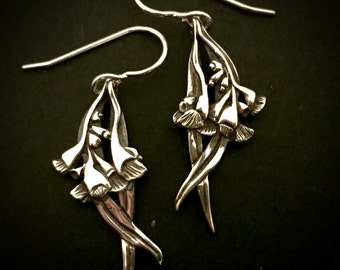 Gumnut hanging earings - sterling silver 30mm plus hook