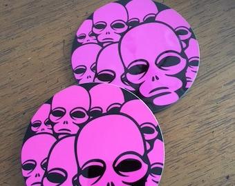 Alien Invasion - Hardboard Coasters (Set of 4)