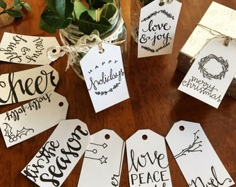 Printable Christmas Gift Tags, Holiday Gift Tags, Gift Tags
