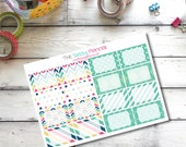 Hot Pink ~ Teal ~ Navy ~ November Monthly Write-On Half Box Planner Stickers for Erin Condren Life Planner