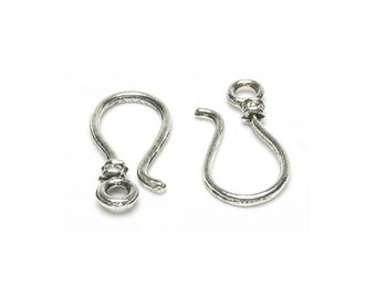 Large Hook Clasp Silver 7 per package