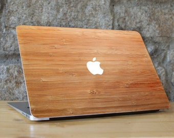 Bamboo Skin Macbook, Macbook Air Bamboo Sticker, Macbook Pro Bamboo Decal, Bamboo Skin Cover for Macbook, Bamboo Macbook, Wood Macbook