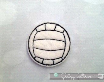Volleyball  Feltie - Set of 4 UNCUT - Volleyball Embroidered Felt Applique