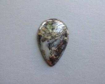 Pyrite on matrix drop cabochon 33x22 mm