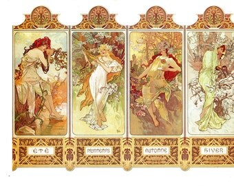 Art Nouveau From one of the most famous artist, Alphonse Mucha