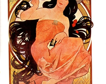 Art Nouveau poster size 11 inches wide and 15 inches tall from Alphonse Mucha