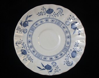 J & G Meakin Saucer in the Blue Nordic pattern 5.75 inches (Two available) Replacement Excellent