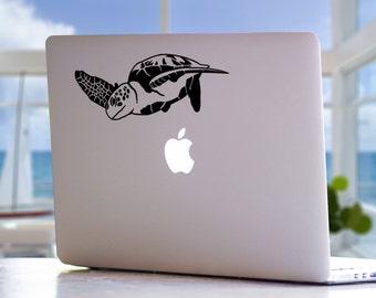 Sea Turtle MacBook Decal - Ocean Wildlife Beach Mac Laptop Vinyl Decal Sticker