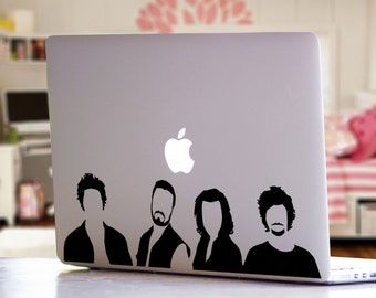 One Direction Band Inspired Silhouette Music Band Pop Culture MacBook Laptop Car Decal Sticker