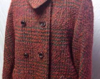 Red Tweed Vintage Jacket