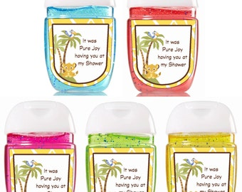 Bath and Body Works Hand Sanitizer / Yellow / Baby Shower Favors / Bath and Body Works Sanitizer / Sanitizer Labels / Simba