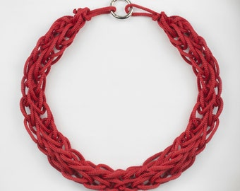 Necklace in Braided Lanyard