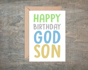 godson birthday card,  happy birthday godson, godson card