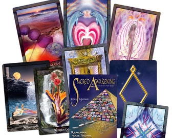 Oracle/Tarot  Card Deck 'Sacred Awakening' - Life Enhancement, Magic, Mystery, Alternate Realities, Ascended Masters, Angels, Spirituality