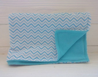 Baby Blue Chevron Blanket