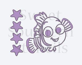 Little Clown Fish PYO Cookie Stencil