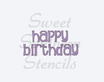 Happy Birthday #3 Stencil