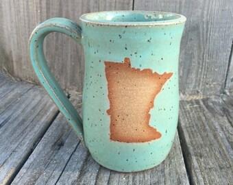 Quick ship: MN mug Turquoise (15 oz)